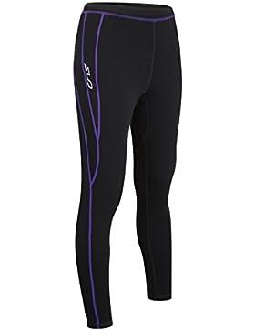 Sub Sports Cold Merino Wool Fitted - Pantalón interior térmico para mujer, color Negro, talla L