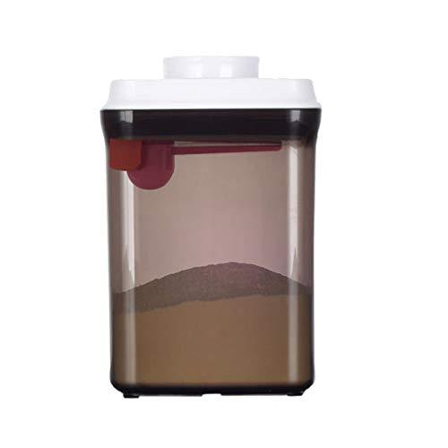 Chenqi Leche para bebé Dispensador de fórmula de leche Contenedor de almacenamiento de alimentos Anti-UV BPA Fórmula libre Polvos en polvo Jarra con tapa de plástico