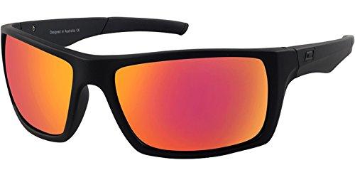 Dirty Dog Primp 53535 Sonnenbrille, polarisiert, Satin, Schwarz