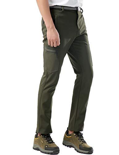 KOUDYEN Pantalones Trekking Hombre Impermeables Invierno