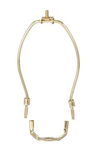 Milton Douglas Lamp Co. 20,3cm Robuste Abnehmbare Messing Lampe Harfe mit Sattel (Harfe Und Kreuzblume Lampenschirm)