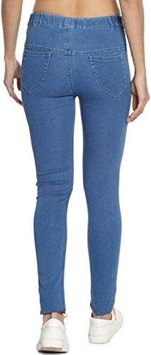 ADBUCKS Denim Jeggings with Elasticated Waistband for Womens (Plus Size Also Available) (46, Stoneblue)