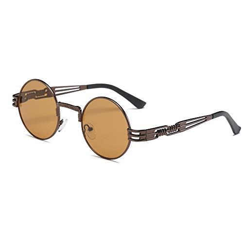 Yvelands Sonnenbrille Frauen Retro Runde Brille Unisex Mode Spiegel Objektiv Reise