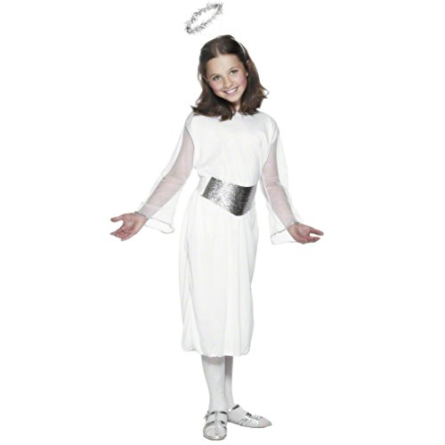 Kostüm Engel Kinder weiß L 145-158cm Engelskostüm Engelkostüm Kinderfaschingskostüm Kinderkarnevalskostüm