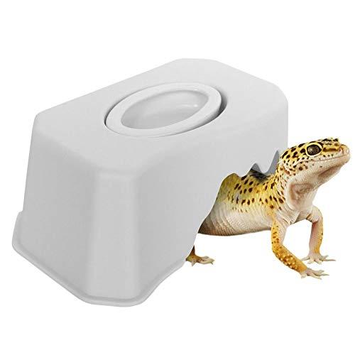 Cuenco de alimentación de reptiles Esquivador Cuenco de comida Pequeño reptil Mascotas escondites Gecko serpiente Ceratophrys Esquivando caja con cuenca de agua Escalada de cueva Caja Paisajismo