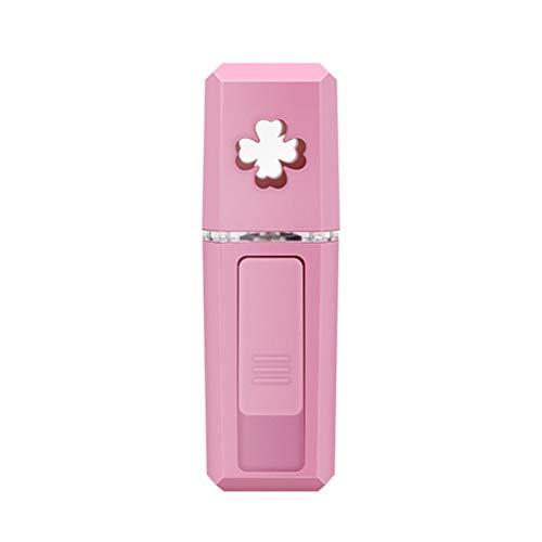 Heylas Damp Vaporizzatore per Il Viso, Strumento idratante USB Nano Grande Strumento Spray, umidificatore per Il Viso a Vapore. Pink