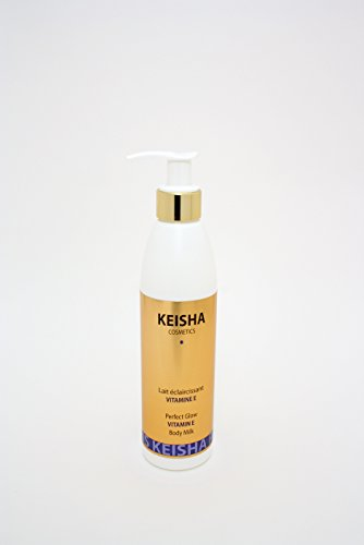 D Whitening-creme (Keisha Cosmetics Lait Eclaircissant Skin Bleaching Whitening Brightening Vitamin E Perfect Extreme Glow Skin Lightening Milk Lotion 250ml - Mild Lightening - for sensitive skin by Keisha Cosmetics)