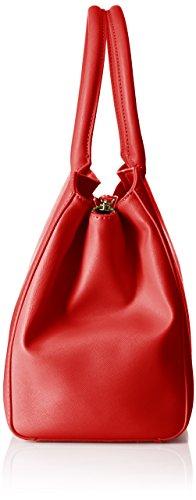 Trussardi 75b491xx53, Borsa a Mano Donna, 37 x 27 x 19 cm (W x H x L) Rosso