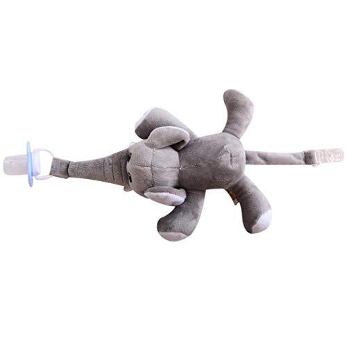 Oldhorse Clip de bébé créatif Suspension Animal Peluche poupée Jouet Mamelon en Silicone Amovible Sucettes