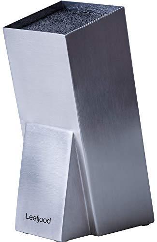 Messerblock aus Edelstahl ohne Messer - modernes Design Universal Messerhalter Küche - einfach zu reinigen Schlitzlose sichere Messer - platzsparende Aufbewahrung Messer