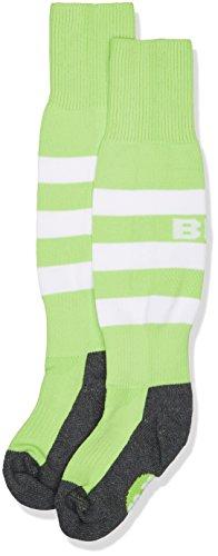Blk Kinder Stripe Socks Bekleidung Teamsport, Flash grün/Weiß, 28-32