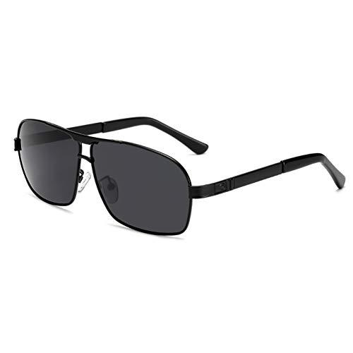 WZYMNTYJ Polarisierte Sonnenbrille Männer Sonnenbrille Klassische Pilot Brillen Eyewear HD Aluminium Frame Drive Luxury Shade UV400