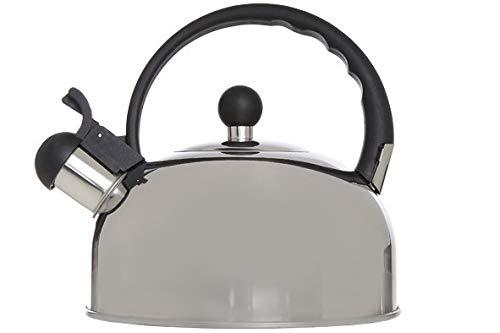 Cosy & Trendy 6173044 Bouilloire 2.5L INOX POIGN.Noire D19XH19 Autre, Aluminium
