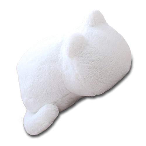 Jannyshop Plüschspielzeug für Katze Plüsch Puppe Stofftier Kinder Kissen Weiß