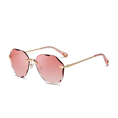Sport-Sonnenbrillen, Vintage Sonnenbrillen, Fashion Sunglasses for Women Ladies Diamond Cutting Lens Ocean Vintage Sun Glasses