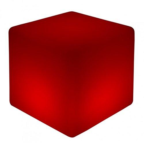 Luminatos 5,  LED  Cube / Hocker 40cm beleuchtet mit Farbwechsel Fernbedienung Sitzwürfel (Party Lounge-möbel)