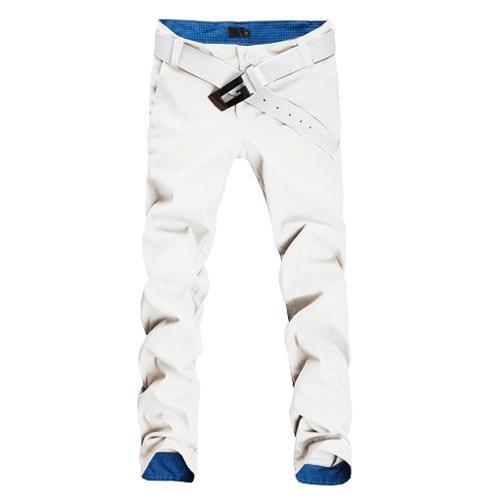 Jeansian Moda Pantaloni Casual Uomo Slim Tendenze J210 White W34
