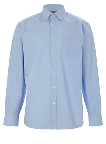 mens-classic-long-sleeve-easy-care-formal-shirts-size-145-to-195-s-to-3xl-m-155-collar-light-blue