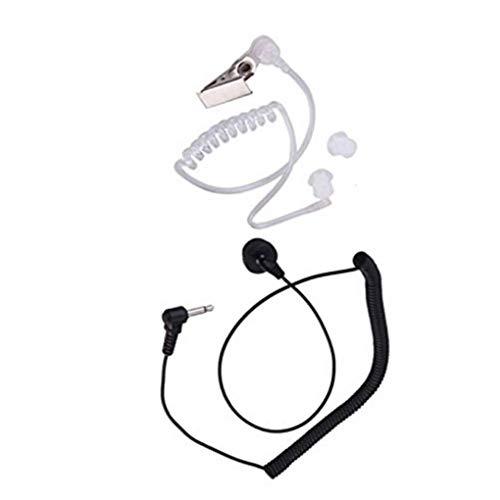 Cdrox 3.5mm Einzel Listen Only Covert akustisches Rohr Hörmuschel Headset erhält für Zwei-Wege-Radio-Lautsprecher-Mikrofon Standard-remote-lautsprecher