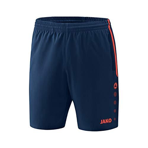 JAKO Herren Competition 2.0 Shorts, mehrfarbig (navy/flame), S