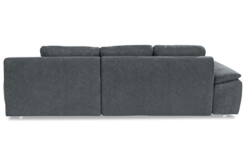 Sofa Ecksofa Labene - Grau - Luxus-Microfaser Grau - 2