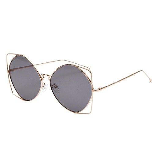 e95e2100cf5716 CLOOM Damen Herren unregelmäßige Metallrahmen Retro Vintage Sonnenbrille  Brillen Damen Herren.