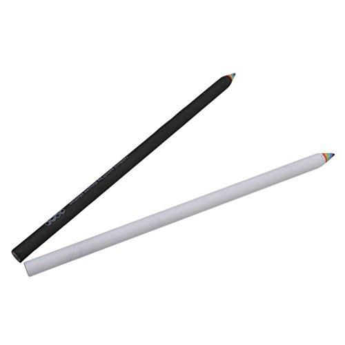 Gluckliy 2Pcs Regenbogen-Bleistift-Zeichnungs-Anstrich-Bleistift-Briefpapier Schwarzweiss
