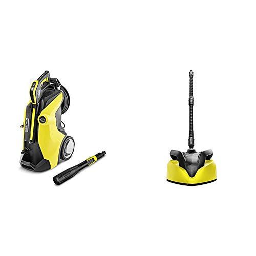 Kärcher k 7 premium full control plus idropulitrice a freddo, 3000 w + kärcher lavasuperfici t 450, giallo/nero