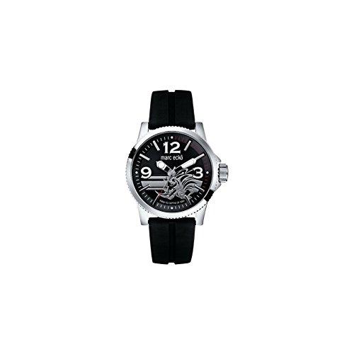 Marc Ecko E08503G1 – Reloj de pulsera para hombre, negro/plata