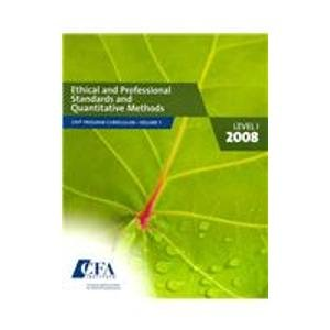 CFA Program Curriculum, Level I 2008 (Cfa Curriculum Program)