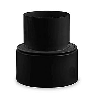 Ofenrohr Reduzierung Ø 130 mm > Ø 100 mm emailliert Schwarz