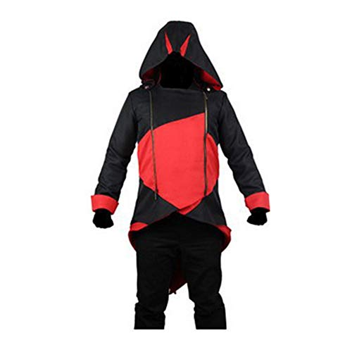 HOOMOLO Assassin's Creed Klassisch Cosplay Anime Kapuzenpullover Trendiger Personalisierte Locker Lang Oberteil