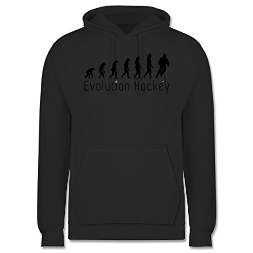 Shirtracer Evolution - Evolution Hockey - 3XL - Anthrazit - JH001 - Herren Hoodie (Evolution Jersey Hockey)