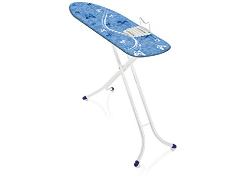 Leifheit 72658 Bügeltisch Air Board M Shoulder Compact, EPP/Steel/Cotton/PE/PP, weiß/blau, 6.1 x 40.79 x 153.30 cm