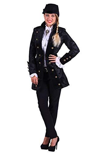 Thetru Damen Kostüm Barock Brokat Jacke schwarz Karneval Fasching Gr.XS