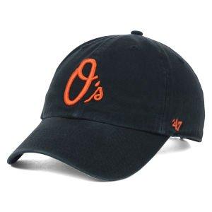 '47 Brand MLB Baltimore Orioles O's Baseballcap Cap Kappe Basecap Clean-Up (Baltimore Orioles Cap)