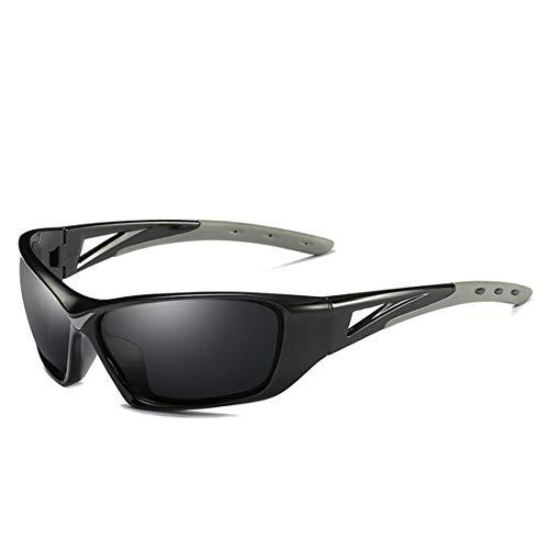 Polarisierte Sonnenbrille mit UV-Schutz Kühle bunte volle Rahmen-Sport-Sonnenbrille polarisierter dunkler Schutz der Objektiv-UV400, der das Radfahren das Fischen fährt Superleichtes Rahmen-Fischen, d