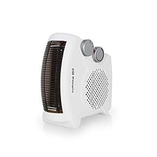 Orbegozo FH 5040 Calefactor eléctrico 2 en 1 (vertical y horizontal) con termostato regulable, 2000W de potencia, 2 posiciones de calor y función ventilador de aire frío