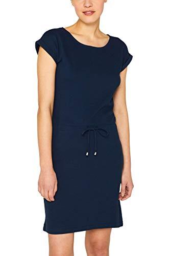 ESPRIT Damen 049EE1E004 Kleid, Blau (Navy 2 401), Small (Herstellergröße: S) -