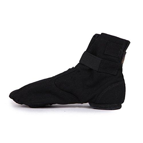 TMKOO Nuovo 2017 magia fibbia Canvas alta aiuto jazz stivali danza scarpe danza moderna pratica scarpe da ballo Nero