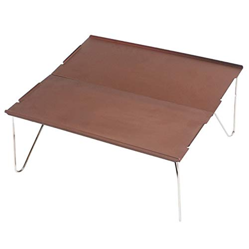 Wulihong-tavolo campeggio tavolo pieghevole barbecue picnic escursionismo durevole piatto in alluminio mobili portatili mini scrivania campeggio singolo leggerocaffèall'aperto