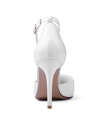 WSS 2016 Chaussures Femme-Bureau & Travail / Décontracté-Rose / Blanc-Talon Aiguille-Talons / Bout Pointu-Chaussures à Talons-Cuir pink-us7.5 / eu38 / uk5.5 / cn38