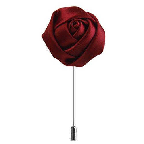 Spilla All'occhiello Pin Cravatta Rose Poliestere Tessuto