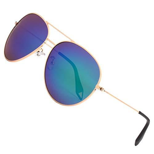 (GQUEEN Premium übergroß Pilotenbrille Polarisierte Sonnenbrille MZZ9)