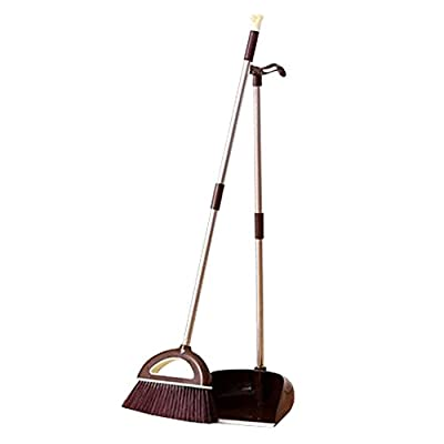 Alien Storehouse Durable Removable Broom und Dustpan Standing Upright Griffe Sweep Set mit Langem Griff, E4