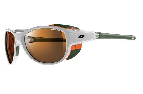 Julbo Explorer 2.0 Sonnenbrille, Matt Weiß, Cameleon Anti-Fog Polarisiert Photochrom, Mittelgroß/Groß (Alpine Explorer)