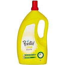 Amazon Brand - Presto! Dish Wash Gel - 2 L (Lemon)