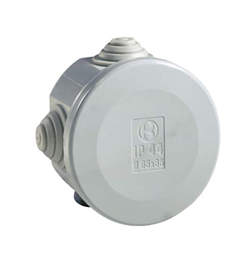 boite de dérivation - a tétines - diamètre 60 mm - gris - boite étanche - iboco 05530