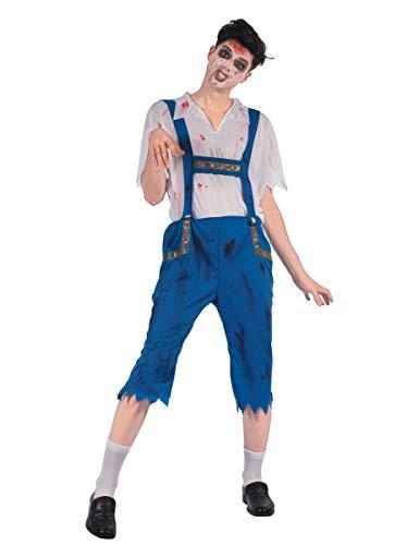Blaues Zombie Lederhosen Kostüm XL