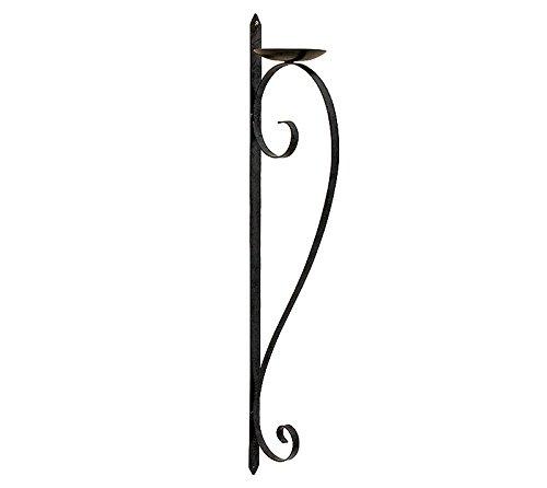 Wandkerzenhalter Antik-Stil Eisen Kerzenleuchter Rustikal 87 cm